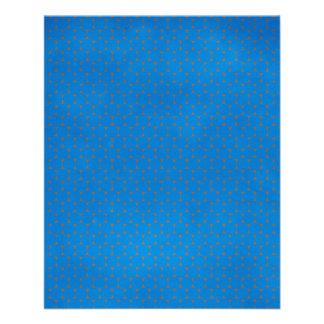 pd30 PRECIOUS BLUE OCEAN WATER POLKA-DOTS PATTERN Full Color Flyer