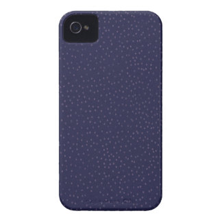 pd51 DARK DREAMY NAVY BLUE POLKADOTS POLKA DOTS iPhone 4 Case-Mate Case