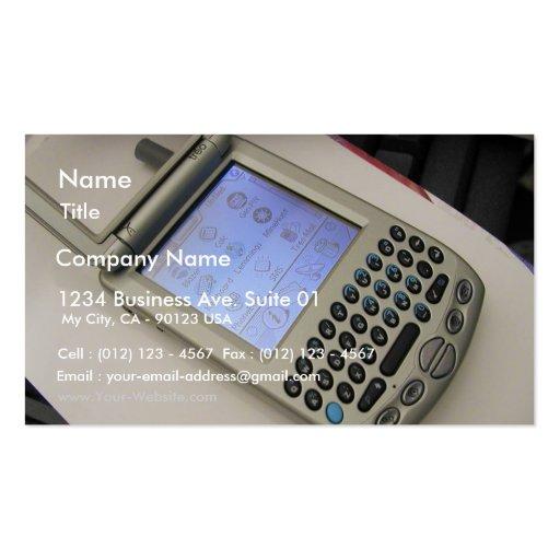 Pda Handhelds Cellphones Palms Business Card Template