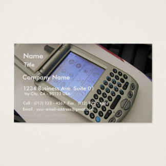 Pda Handhelds Cellphones Palms Business Card
