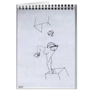 PDD19 Small Weak Drawing Cyber Legs Finger Doodles Greeting Card