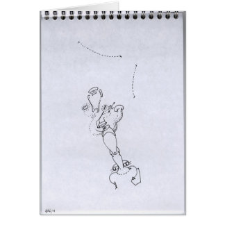 PDD34 Small Weak Drawings Surreal Leg Face Doodles Greeting Card