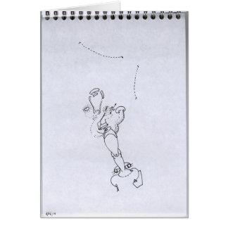 PDD34 Small Weak Drawings Surreal Leg Face Doodles Greeting Card
