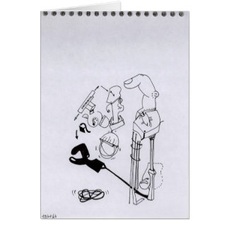 PDD62 S W Drawings Surreal Finger Shadow Doodles Greeting Card