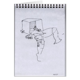 PDD 16 Small Weak Drawings Surrealist Doodles C Greeting Card