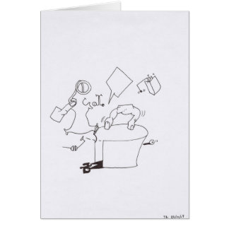 PDD Small Weak Drawings Surreal Dancing Fingers Greeting Card