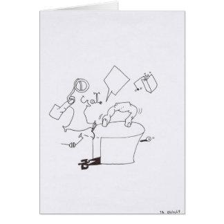 PDD Small Weak Drawings Surreal Dancing Fingers Greeting Card
