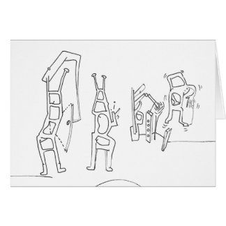 PDD Small Weak Drawings Surreal Ladders card