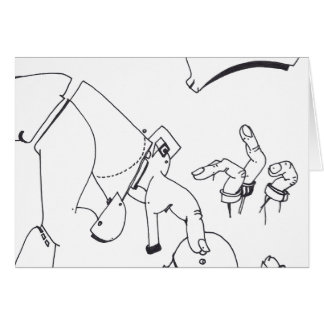 PDD Small Weak Drawings Surreal Prosthetic Fingers Greeting Card