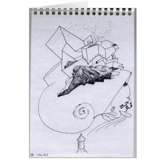 PDD Small Weak Drawings Surrealist Odd Card