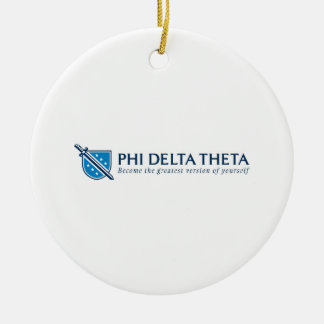 PDT- Become the Greatest Version of Yourself Blue Round Ceramic Decoration