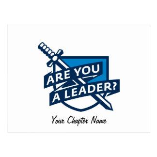 PDT - Leader Outline Blue Postcard