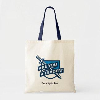 PDT - Leader Outline Blue Budget Tote Bag