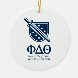 PDT - Stacked Become the Greatest Blue 2 2 Christmas Ornament