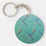PDX Airport Carpet Basic Round Button Key Ring
