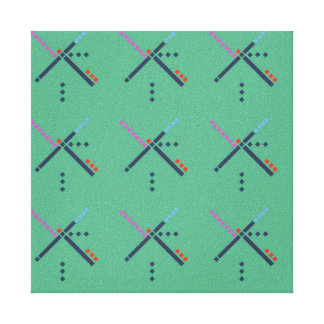 PDX Airport Carpet Canvas Print