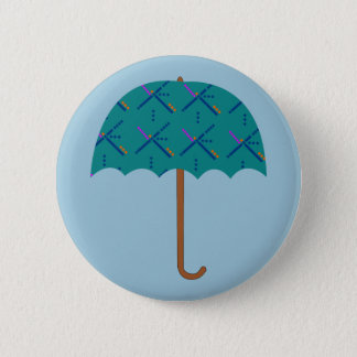 PDX Airport Carpet Umbrella 6 Cm Round Badge