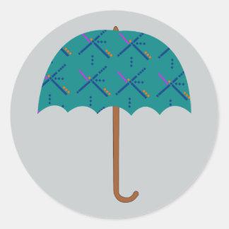 PDX Airport Carpet Umbrella Classic Round Sticker