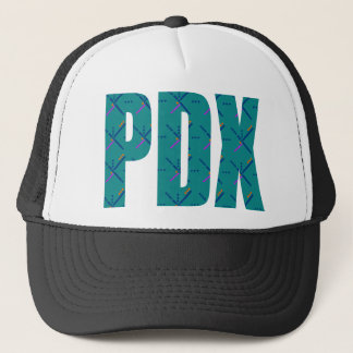 PDX Letters Portland Airport Carpet Trucker Hat