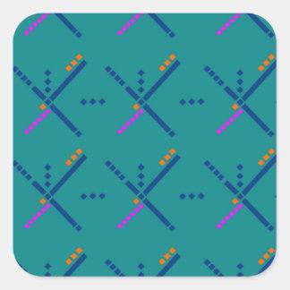PDX Portland Airport Carpet Square Sticker