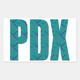 PDX Portland Airport Carpet Text Rectangular Sticker