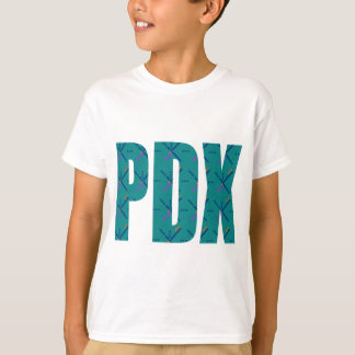 PDX Portland Airport Carpet Text T-Shirt