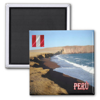 PE - Peru - Paracas Reserve-UNESCO World Heritage Square Magnet