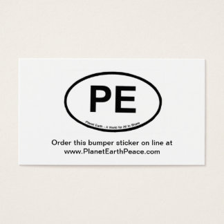 PE - Planet Earth Business Card