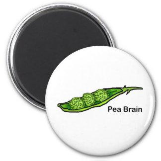 Pea Brain 6 Cm Round Magnet