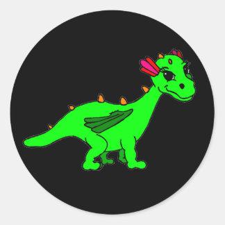 Pea Classic Round Sticker