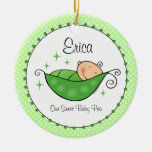 Pea In My Pod Personalised Ornament