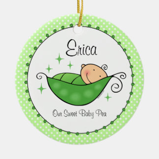 Pea In My Pod Personalized Ornament