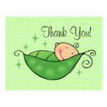 Pea In My Pod Thank You Postcard