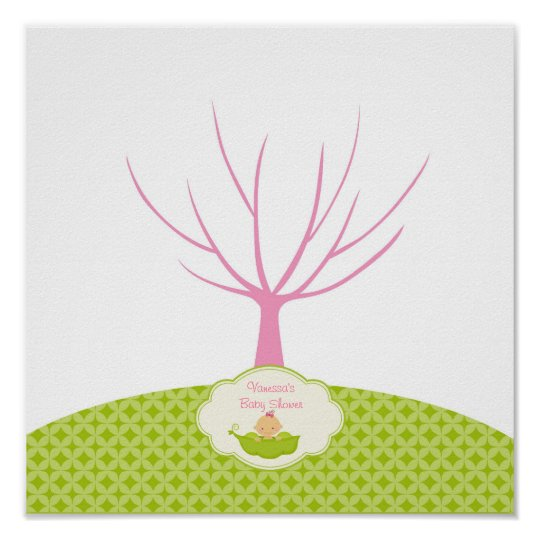 Pea in the Pod Baby Shower Guestbook Tree