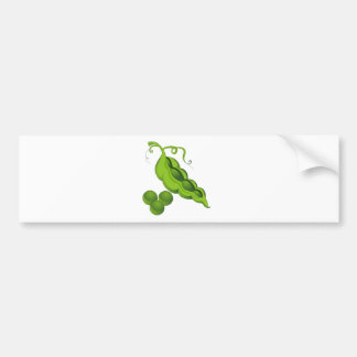 Pea Pod Cartoon Bumper Sticker