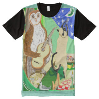 Pea Pod Moon And Stars All-Over Print T-Shirt