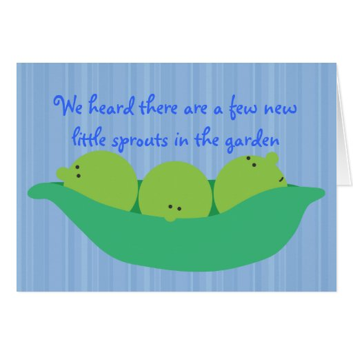 Pea Pod Pals New Baby Boys Congratulations Card