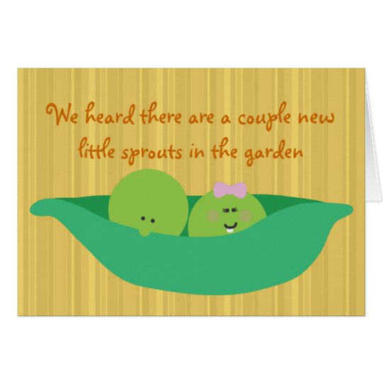 Pea Pod Pals New Twin Babies Congratulations Card