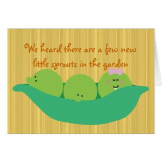 Pea Pod Pals Triplet Babies Congratulations Card