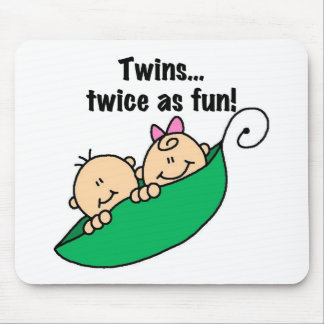 Pea Pod Twins Twice as Fun Mouse Mat