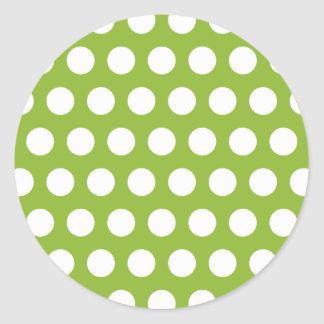 Pea Soup w/ Dots Classic Round Sticker