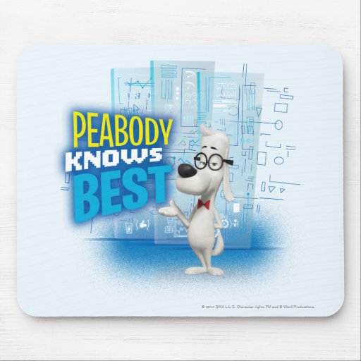 Peabody Knows Best Mouse Pads