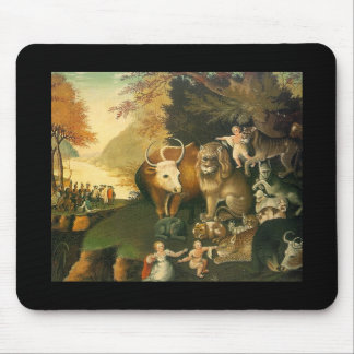 Peacable Kingdom by Edward Hicks Mouse Pads