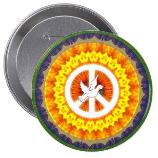 Peace 10 Cm Round Badge