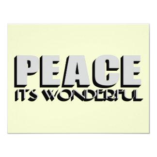 peace 11 cm x 14 cm invitation card