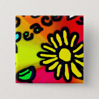 peace 15 cm square badge