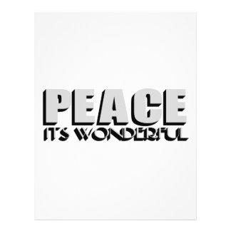 peace 21.5 cm x 28 cm flyer