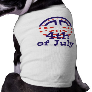 Peace 4th of July T-shirts and gifts Sleeveless Dog Shirt
