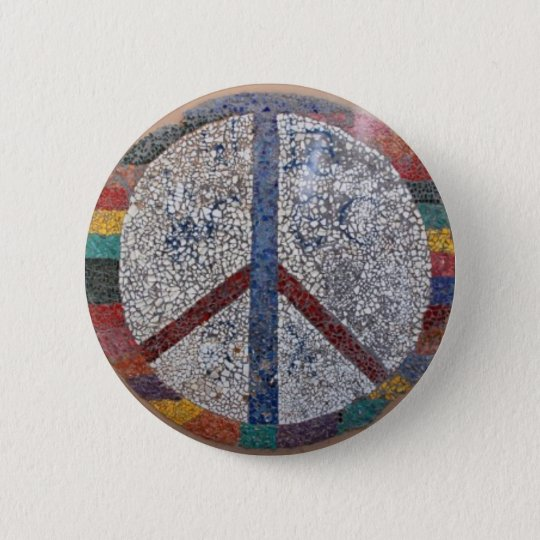PEACE 6 CM ROUND BADGE