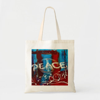 Peace abstract colors blue, red & white